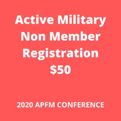 Active Military non member APFM 2020