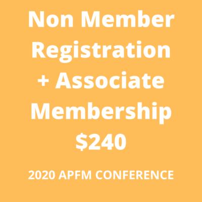 APFM 2020 - non member associate