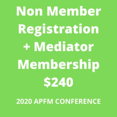 APFM 2020 - nonmember + mediator