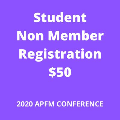 APFM 2020 - nonmember student