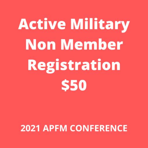 APFM 2021 Conference - military non member