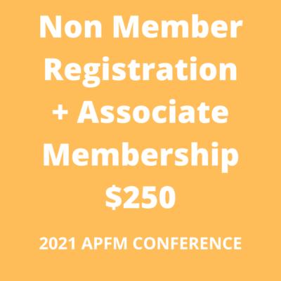 APFM 2021 Conference - non member associate