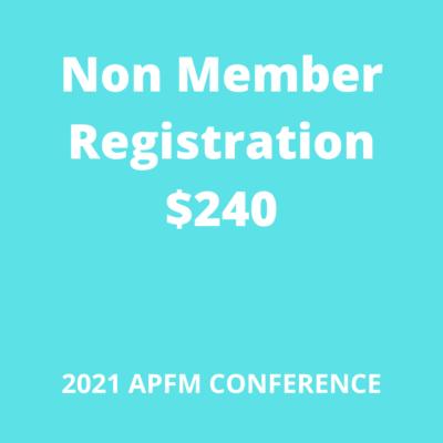 APFM 2021 Conference Nonmember