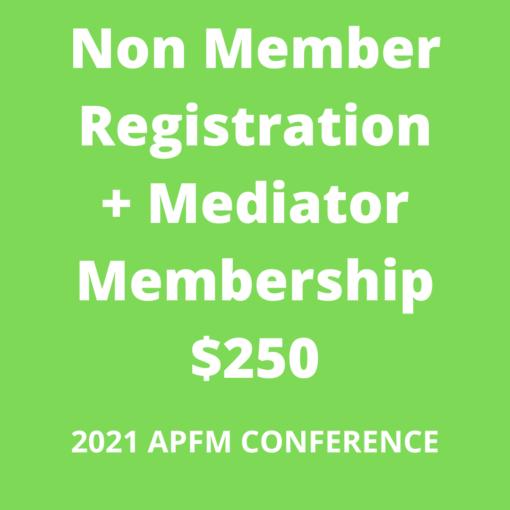 APFM 2021 Conference - nonmember + mediator