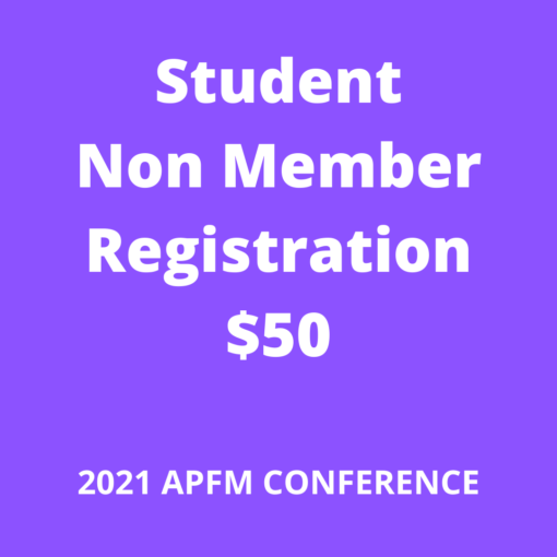 APFM 2021 Conference - nonmember student