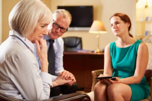 couple in family mediation